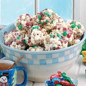 M&M popcorn balls