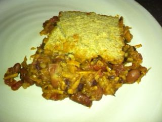 Vegan Chili Cornbread Pie