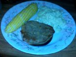 Steak Broiled with Garlic : 1 Serving