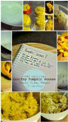 Healthy Vegan/Dairy Free Pumpkin Scones