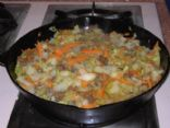 Ground Beef & Cabbage Stir Fry
