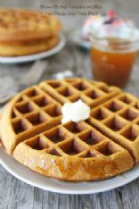 Brown butter Pumpkin whole wheat waffles
