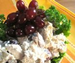 Chicken Salad with Grapes, Celery, & Pecans