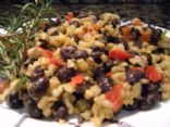 wild rice and black beans