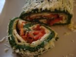 Spinach Roulade with Mozzarella and Tomato filling