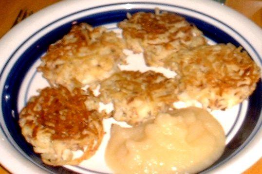 LATKAS and APPLESAUCE (Potato Pancakes)