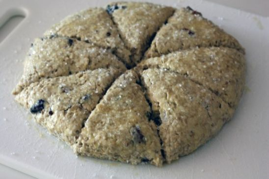 Steel Cut Oatmeal Scones with Raisins