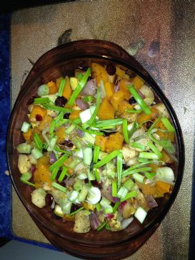 Jamaican Twist on Andrea's Butternut squash salad