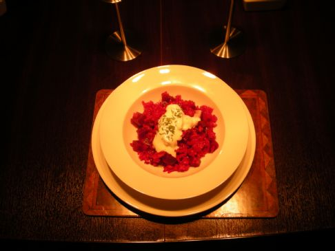 Multi-cooker beetroot risotto