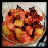 Shrimp, Black Bean and Avocado Salsa