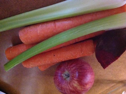Juice: apple, beets celery, carrots