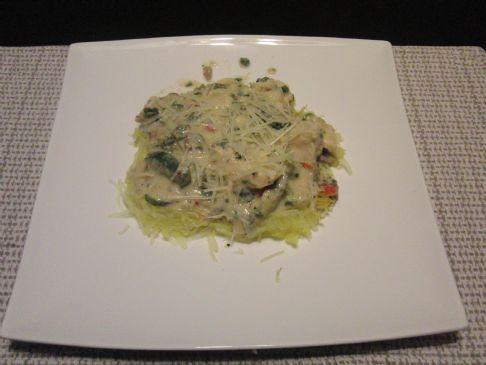 Robin's Chicken Vegetable Alfredo