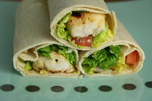 Chicken Wraps with an Apple