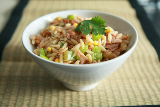 Tuna Cilantro Orzo Salad