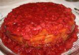 Homemade sugar free Strawberry Cheesecake