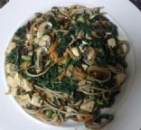 Three-Soy Saute with Soba Noodles