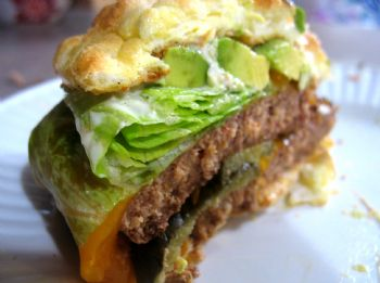 Low-Carb Oopsie Burger