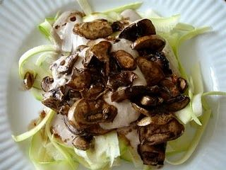 Raw Vegan Mushroom Alfredo