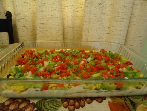 Mexican Layer Dip with Greek Yogurt