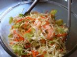 Cabbage, cucumber and Shrimp Salad