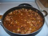 Hot Salsa Turkey Chili