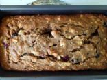 Whole wheat oatmeal apple berry bread