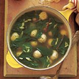 Escarole Soup with Turkey Meatballs
