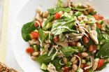 White Bean, Tuna and Spinach Salad