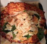 Chicken Alfredo and Spinach pizza