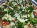 Chicken Spinach n Brocoli Pizza
