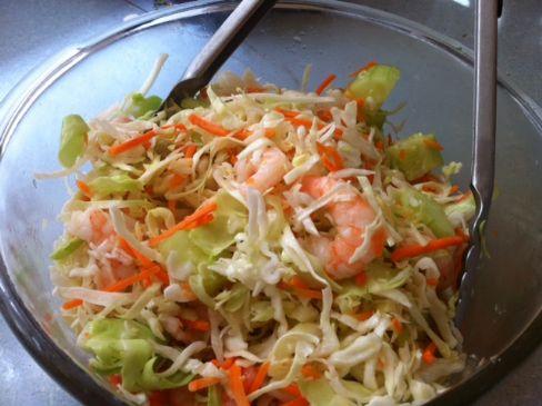 Cabbage, cucumber and Shrimp Salad