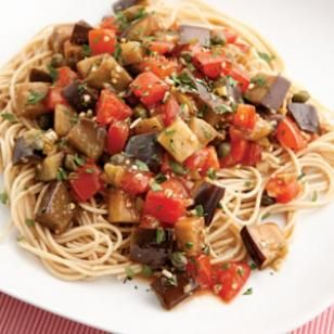 Eggplant Pomodoro Pasta (Mediterranean)