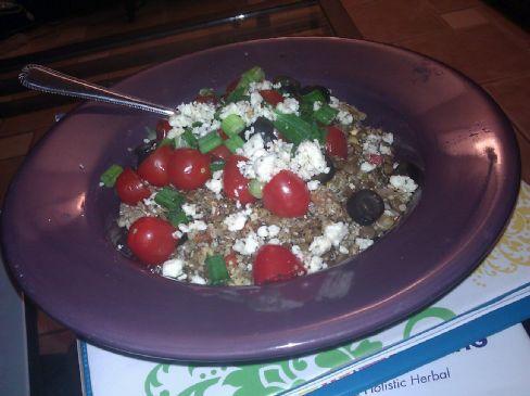 Greek Lentils and Quinoa