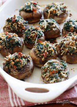 Skinny Stuffed Mushrooms