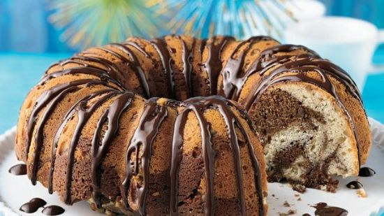 Sour Cream Chocolate Swirl Coffee Cake