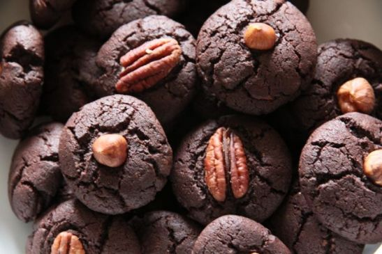 Very very chocolate cookies with fleur de sel
