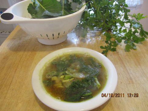 Simple Spring Garden Chicken Soup