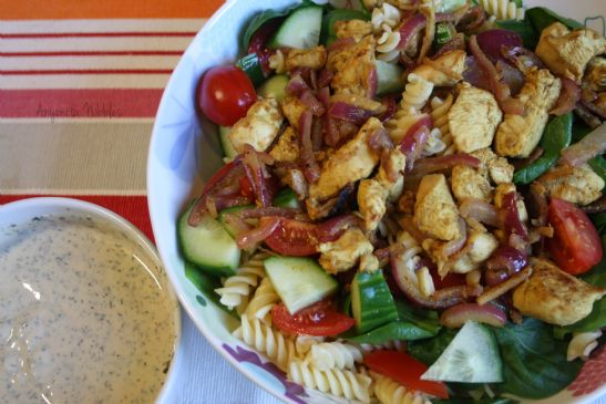 Curry Fried Chicken Salad with Yogurt Dressing