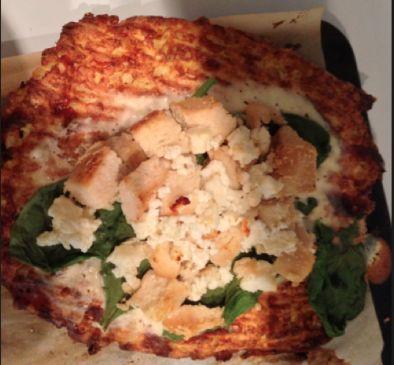 Chicken Alfredo and Spinach pizza