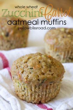 Zucchini Carrot Oatmeal Muffins