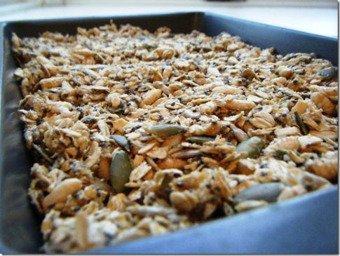 fANNEtastic Food's 5 Minute No Bake Peanut Butter Granola Bars