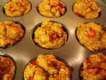 Pumpkin Applesauce Cranberry Walnut Wheat-Germ Muffins