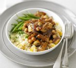 Moroccan mushrooms with couscous
