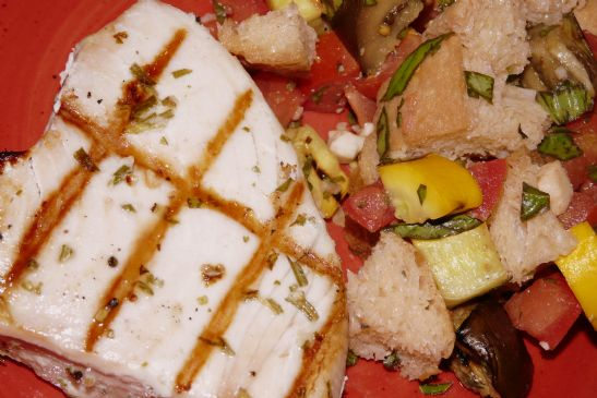 Grilled Rosemary Albacore Tuna Steaks