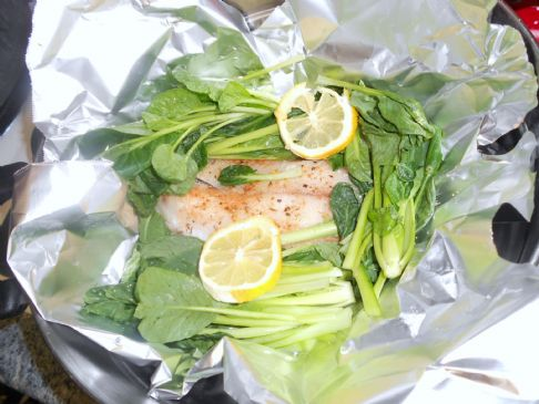 Thai-style steamed tilapia & pak choi Recipe | SparkRecipes