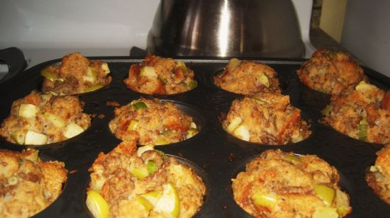 Apple, Onion and Sausage Stuffing Muffins