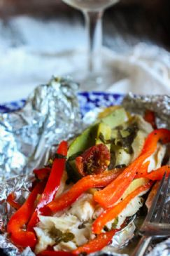 Foil-Baked Fish with Veggies