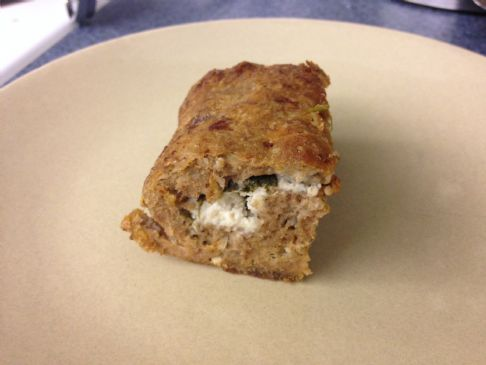 Low Carb Turkey Goat Cheese Spinach Meatloaf