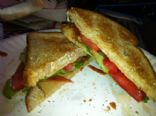 Vegetarian/Vegan Toasted Turkey Club Sandwich