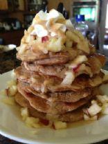 Baked Apple Pie Protein Pancakes